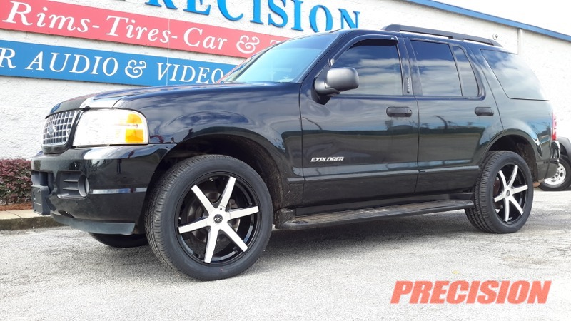 Ford Explorer Black Rims >> Black Pacer 20 Wheels Give 2003 Ford Explorer New Style